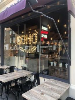 SOHO Coffee Co. store on Wigmore Street, W1